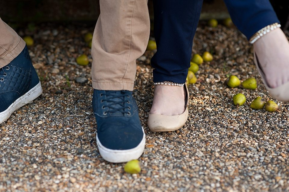 His and hers love shoot - blue shoes and sparkly ballet flats London Fiona Kelly wedding photographer