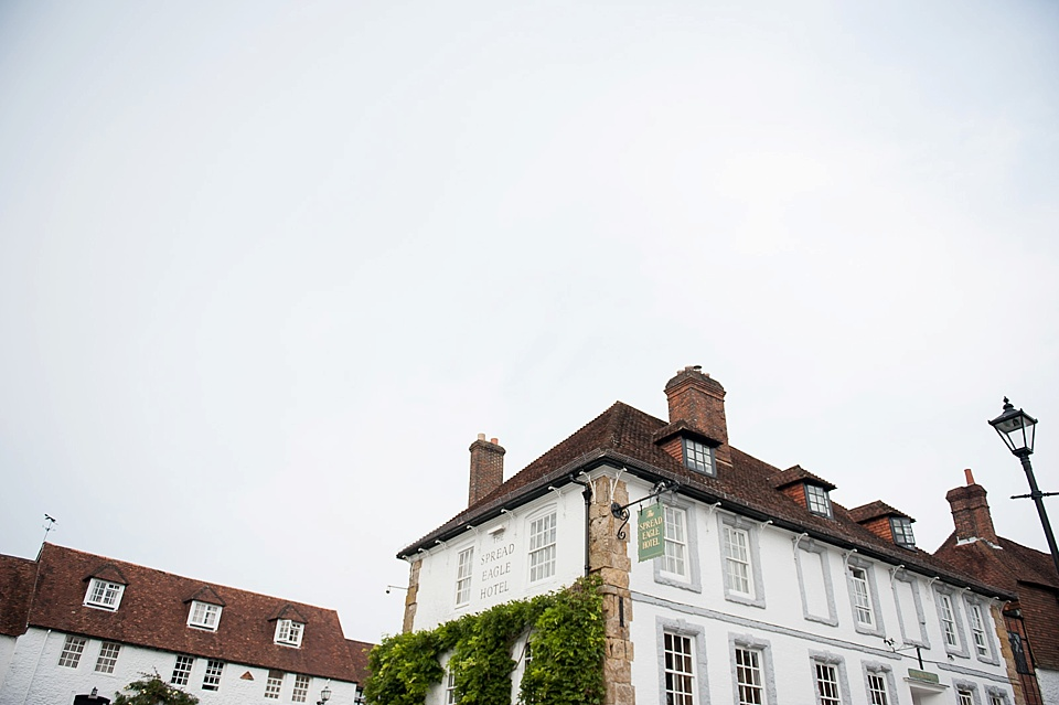 The Spread Eagle hotel - wedding accommodation for english country garden wedding Sussex wedding photographer © Fiona Kelly photography