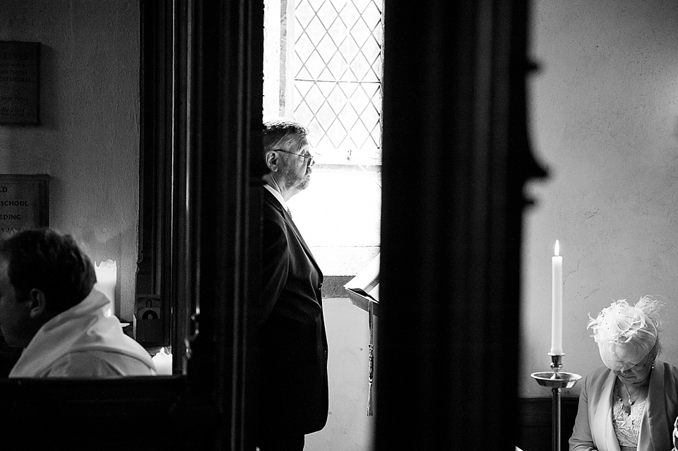 The reading - English country garden wedding All Hallows Church Woolbeding Sussex - natural wedding photographer © Fiona Kelly photography