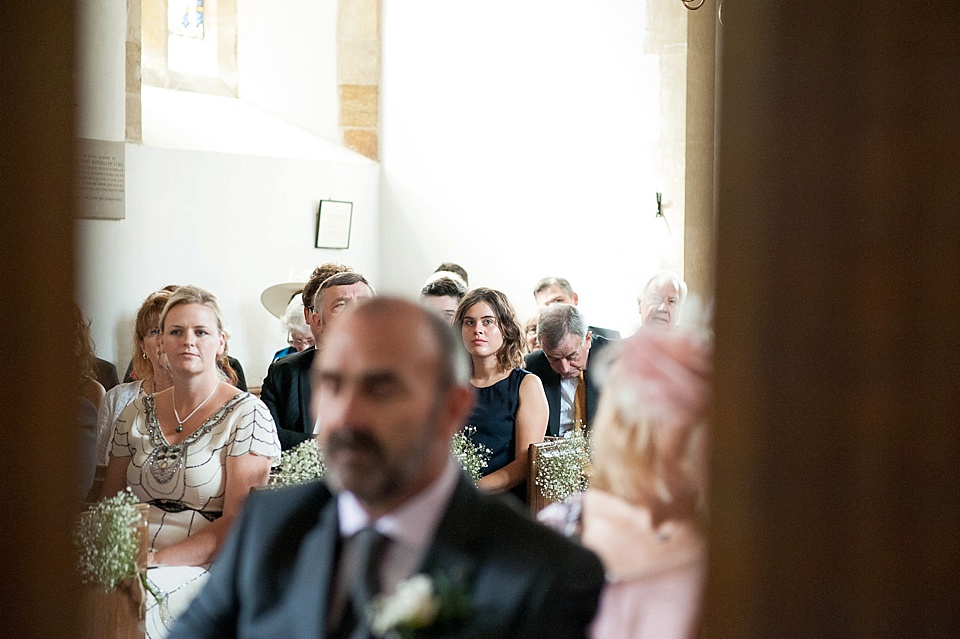 Over the shoulder photography - English country garden wedding All Hallows Church Woolbeding Sussex - natural wedding photographer © Fiona Kelly photography