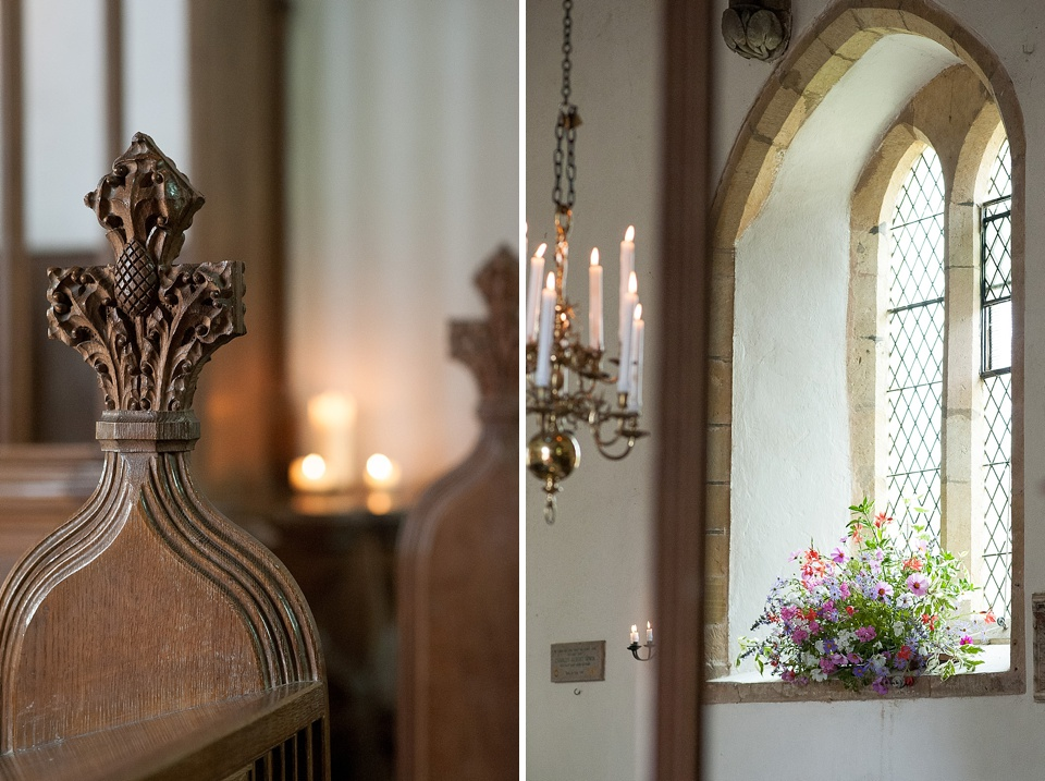Beautiful flowers by Blooms - English country garden wedding All Hallows Church Woolbeding Sussex - natural wedding photographer © Fiona Kelly photography