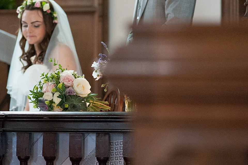Flowers by Blooms - English country garden wedding All Hallows Church Woolbeding Sussex - natural wedding photographer © Fiona Kelly photography