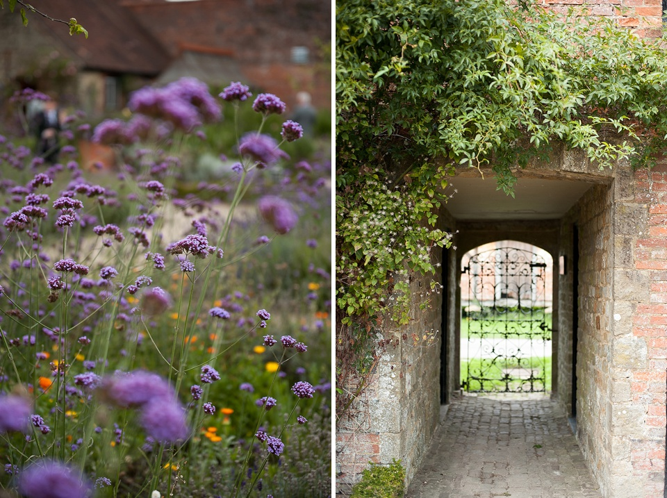 Beautiful flowers at an English country garden wedding at the Walled Garden at Cowdray - Sussex wedding photographer © Fiona Kelly photography
