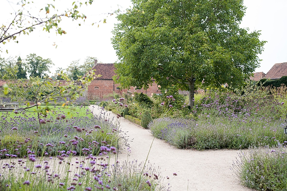 Beautiful garden at an English country garden wedding at the Walled Garden at Cowdray - Sussex wedding photographer © Fiona Kelly photography