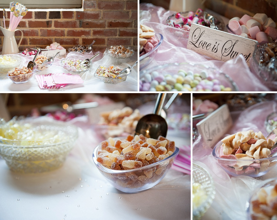 Pick n mix sweets at an English country garden wedding at the Walled Garden at Cowdray Sussex - natural wedding photographer © Fiona Kelly photography