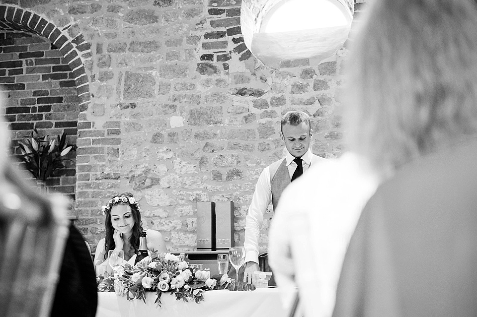 Groom's speech - English country garden wedding at the Walled Garden at Cowdray Sussex - natural wedding photographer © Fiona Kelly photography