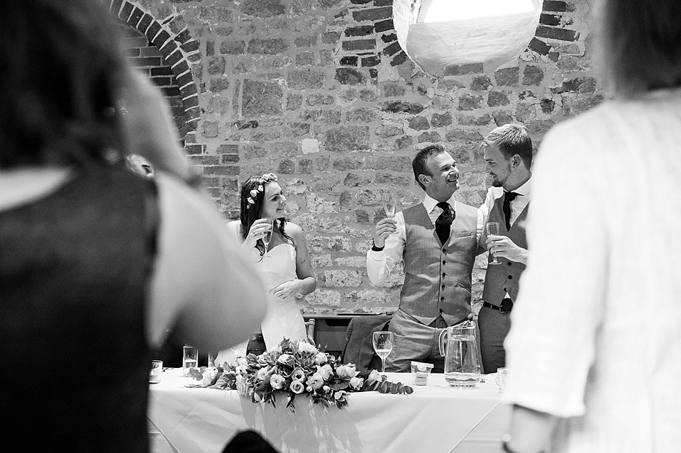 Groom and best man - English country garden wedding at the Walled Garden at Cowdray Sussex - natural wedding photographer © Fiona Kelly photography