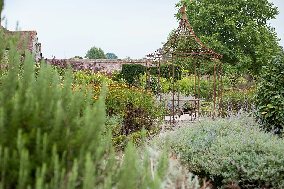 Gorgeous gardens at English country garden wedding at the Walled Garden at Cowdray Sussex - natural wedding photographer © Fiona Kelly photography