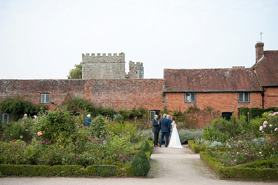 Beautiful setting - English country garden wedding at the Walled Garden at Cowdray - Sussex wedding photographer © Fiona Kelly photography