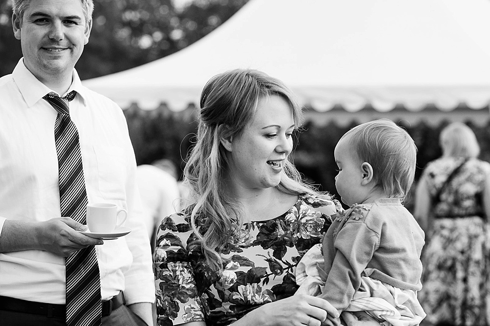 Babies at weddings English country garden wedding at the Walled Garden at Cowdray - Sussex wedding photographer © Fiona Kelly photography