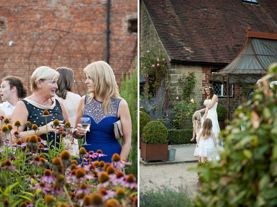 English country garden wedding at the Walled Garden at Cowdray - Sussex wedding photographer © Fiona Kelly photography