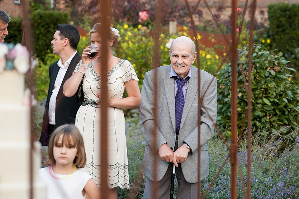 Family English country garden wedding at the Walled Garden at Cowdray - Sussex wedding photographer © Fiona Kelly photography