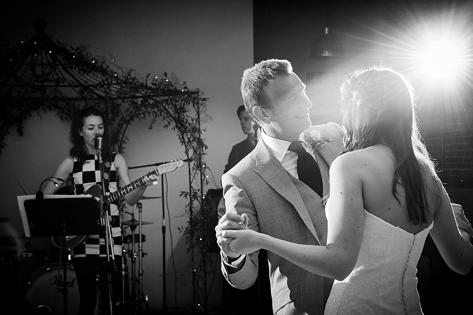 First dance with great light - English country garden wedding at the Walled Garden at Cowdray Sussex - natural wedding photographer © Fiona Kelly photography