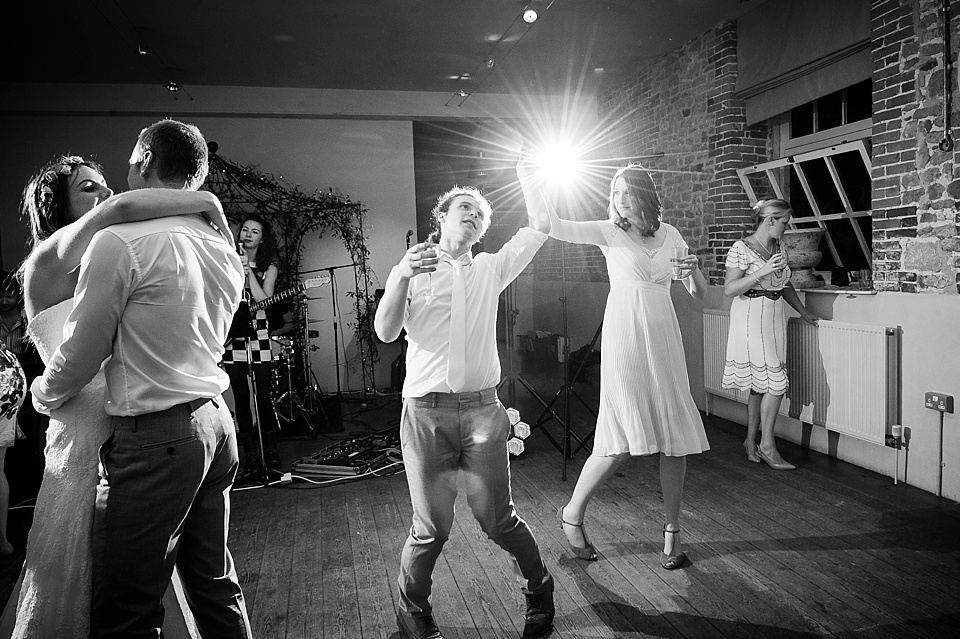 Wedding guests dancing - English country garden wedding at the Walled Garden at Cowdray Sussex - natural wedding photographer © Fiona Kelly photography