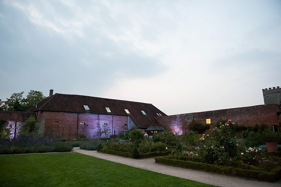 Beautiful lights at English country garden wedding at the Walled Garden at Cowdray Sussex - natural wedding photographer © Fiona Kelly photography
