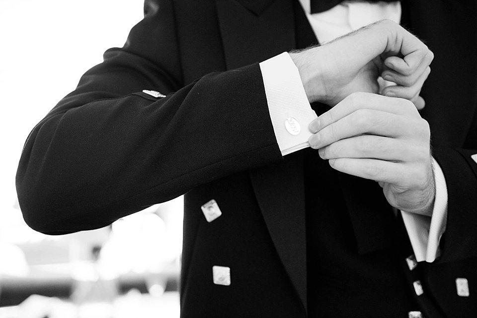 silver cufflinks at a thames rowing club wedding, a handmade wedding, scottish wedding photographer © Fiona Kelly Photography