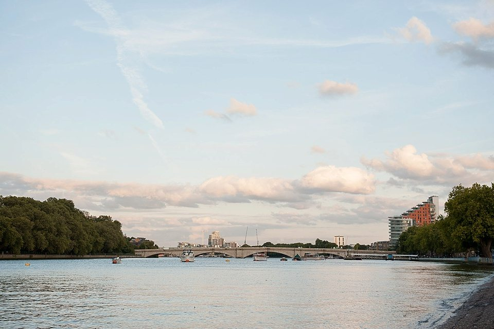 the river thames at Putney, London at a thames rowing club wedding, a handmade wedding, scottish wedding photographer © Fiona Kelly Photography