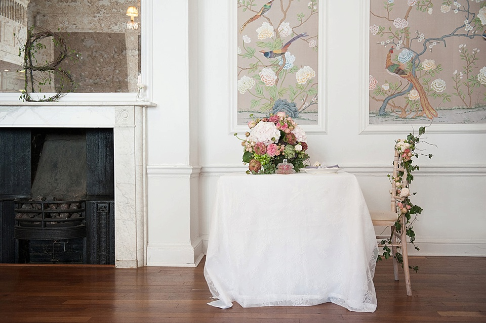 Bridal boudoir shoot styled by Bloved, flowers by Indeco Flowers at The George in Rye - fine art photography © Fiona Kelly Photography