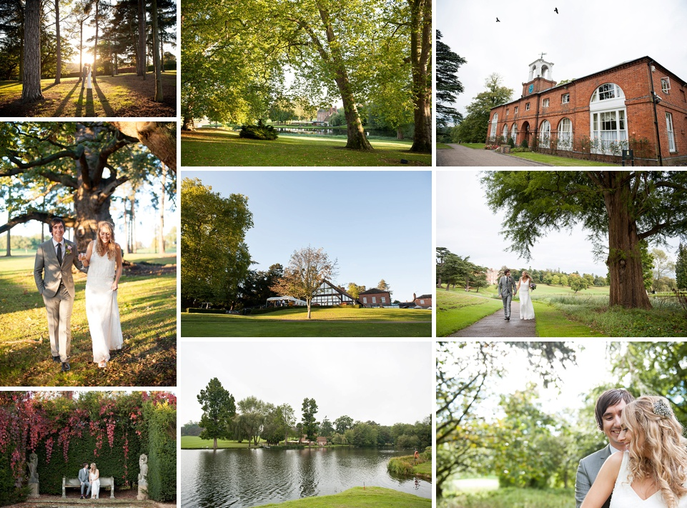 Loose unstructured wedding dress - Stunning grounds - Amazing Hertfordshire wedding venues - Brocket Hall © Fiona Kelly Photography