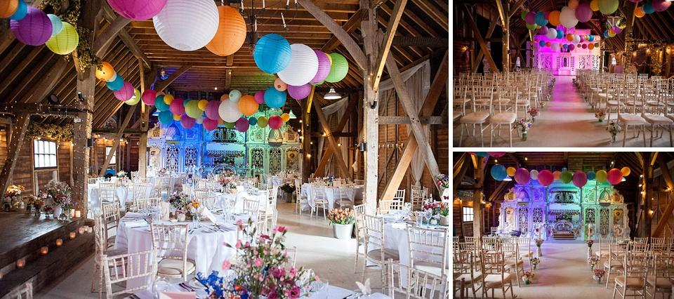 Colourful balloons - Amazing Kent wedding venues - Preston Court © Fiona Kelly Photography