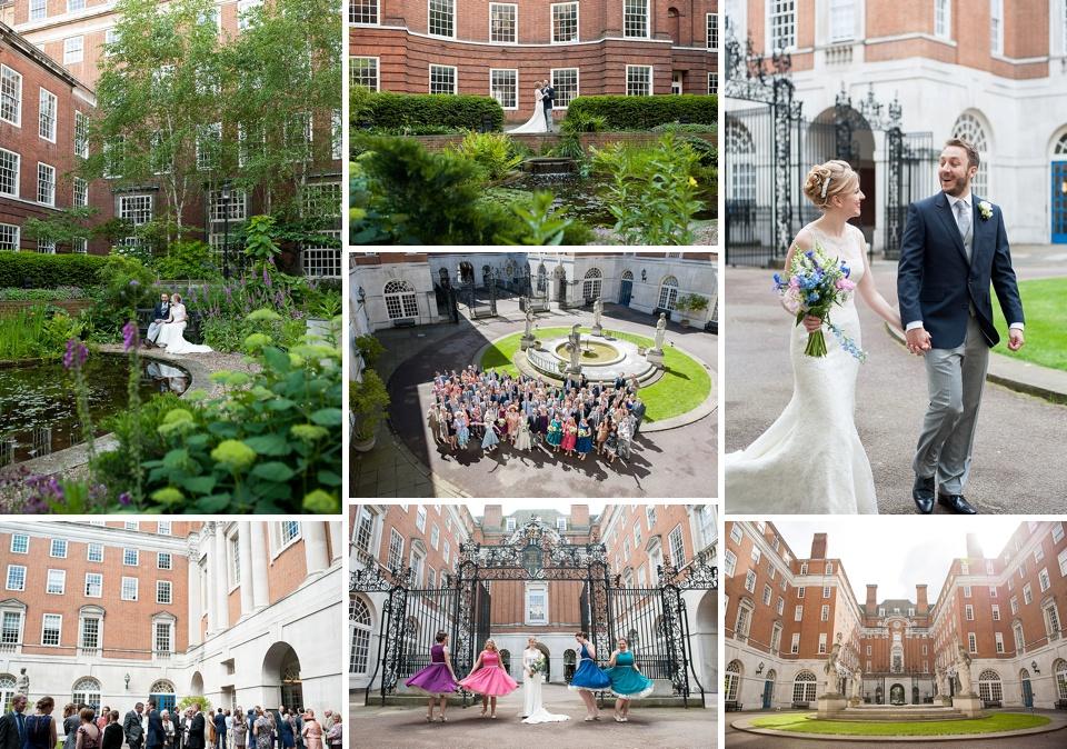 Beautiful and spacious wedding venue near Tavistock Square - Amazing London wedding venues - BMA House © Fiona Kelly Photography