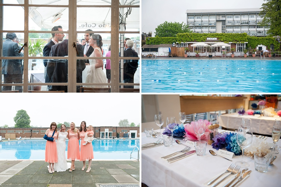 Colourful, quirky art deco London wedding venues - Brockwell Lido Cafe © Fiona Kelly Photography