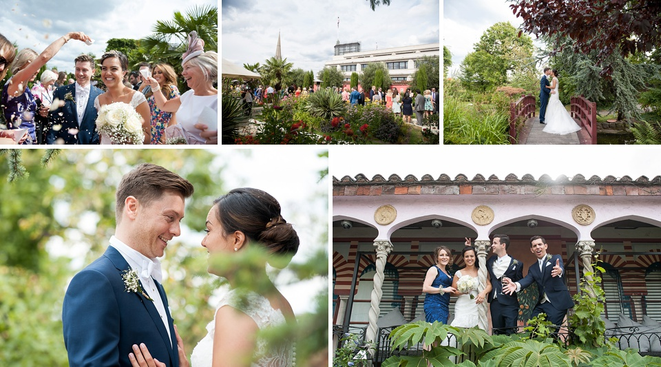 Garden wedding in the middle of London - Amazing London wedding venues - Kensington Roof Gardens © Fiona Kelly Photography