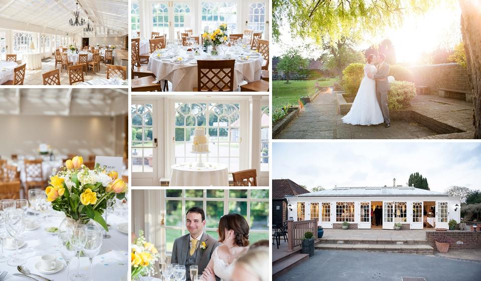 Rustic yellow Kent wedding venues - Oaks Farm © Fiona Kelly Photography