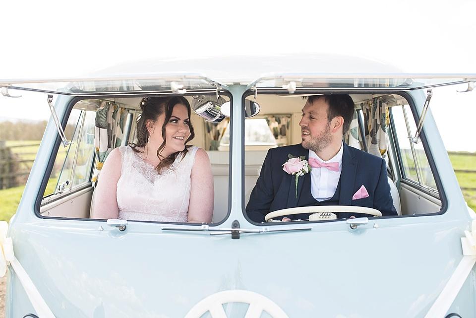 89 pink-lace-bride-and-groom-wedding-portrait-in-VW-camper-van-barn-wedding-venues-rustic-wedding-at-Notley-Tythe-Barn-elegant-Aylesbury-wedding-photographer-©-Fiona-Kelly-Photography