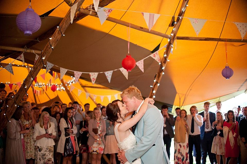 wedding first dance at a teepee wedding