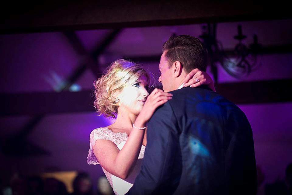 wedding first dance at oaks farm