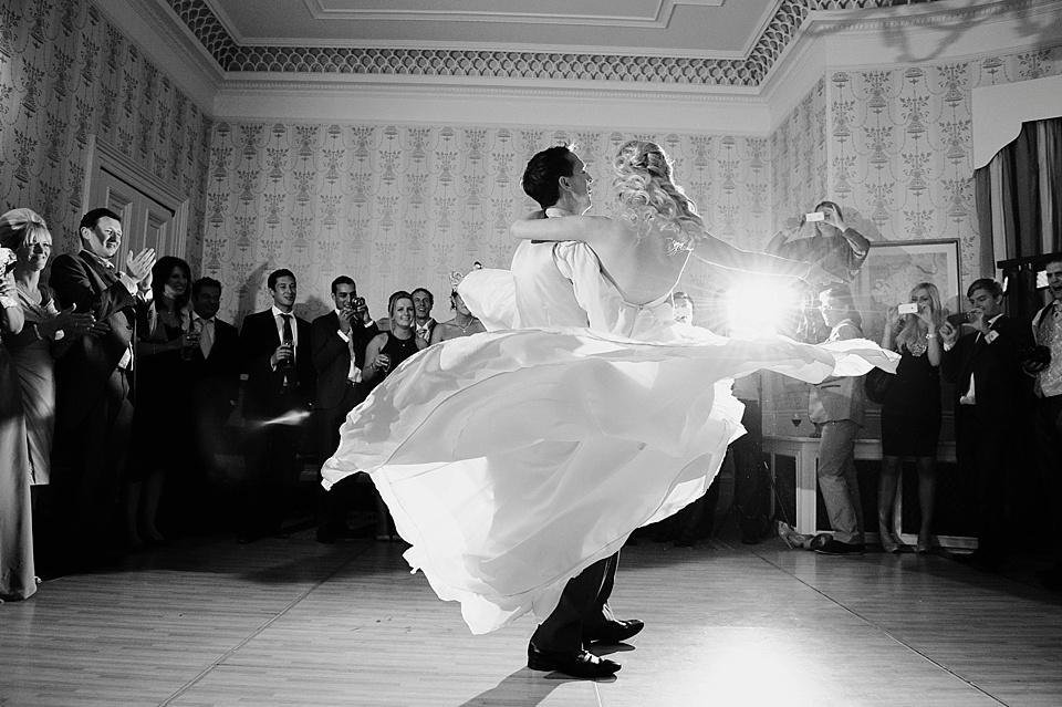 Wedding First Dance Groom Swinging Bride Off Her Feet