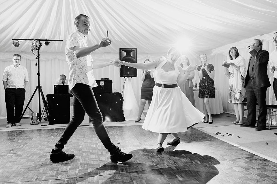wedding first dance swing dance
