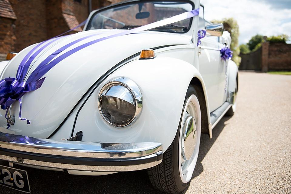 76 vintage white Beatle for wedding