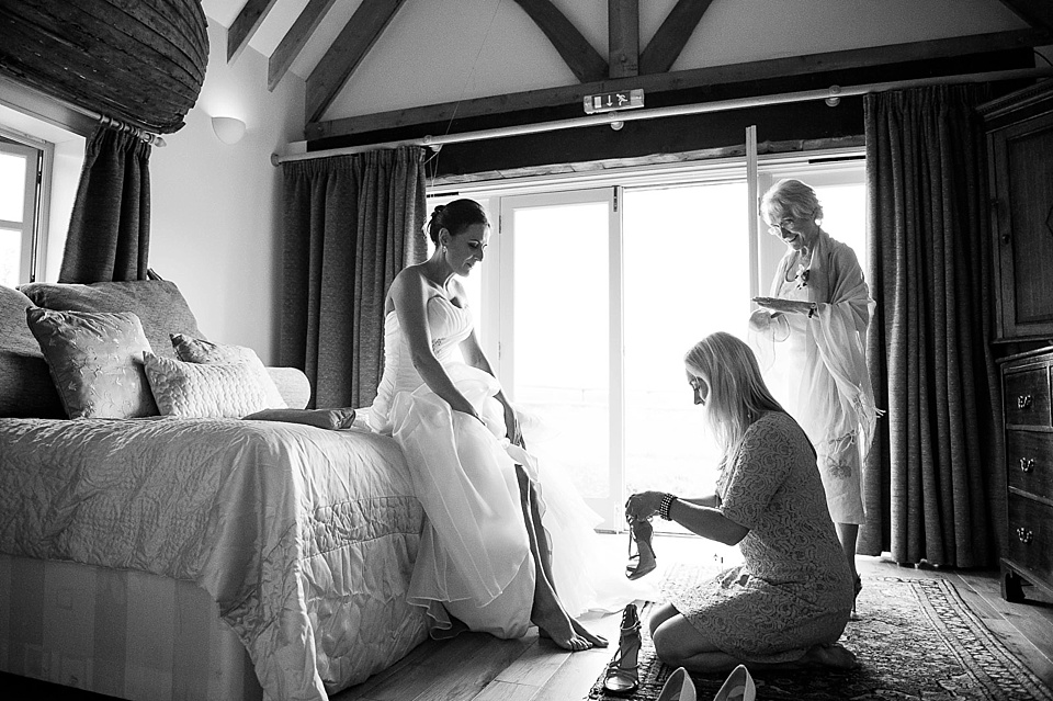 Bride getting ready Sussex