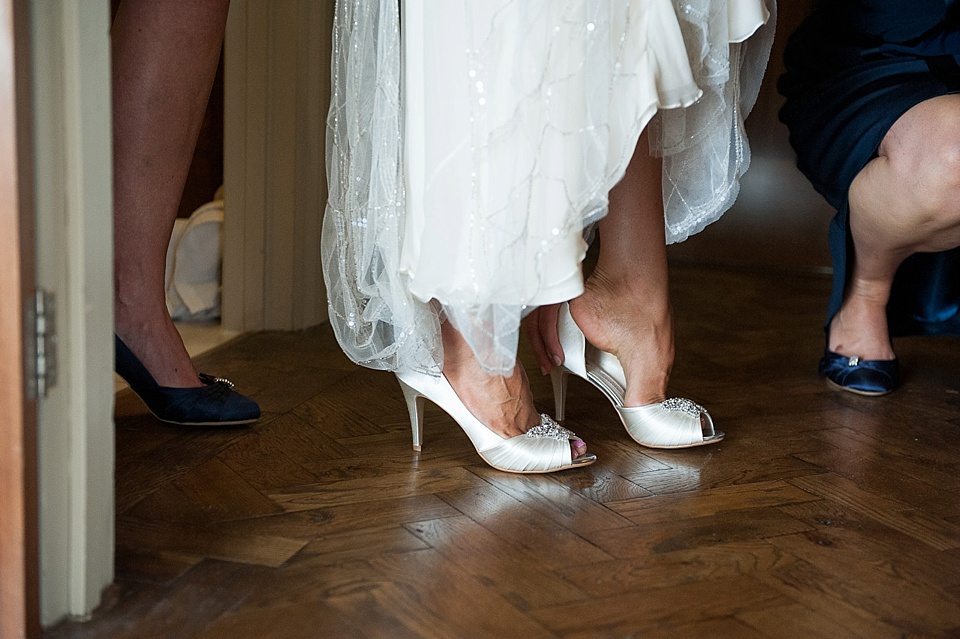 Bridal shoes added sparkle