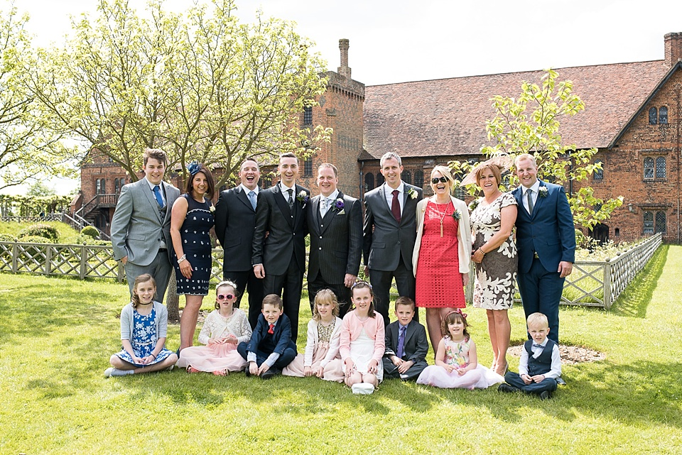 Family wedding group photo