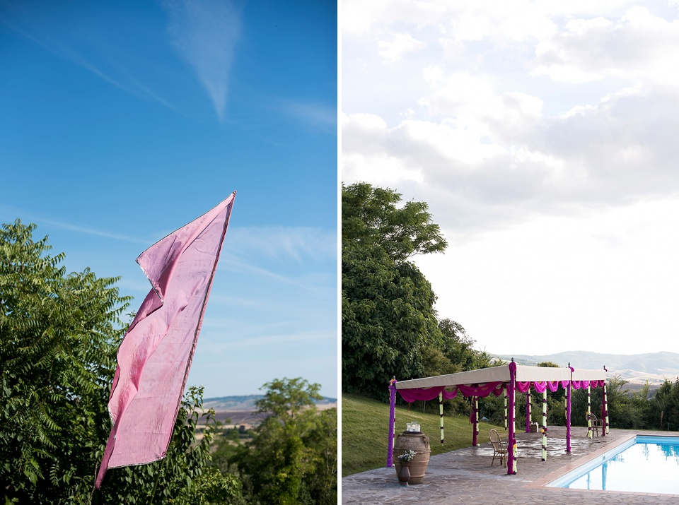 Mandap for Indian wedding in Tuscany