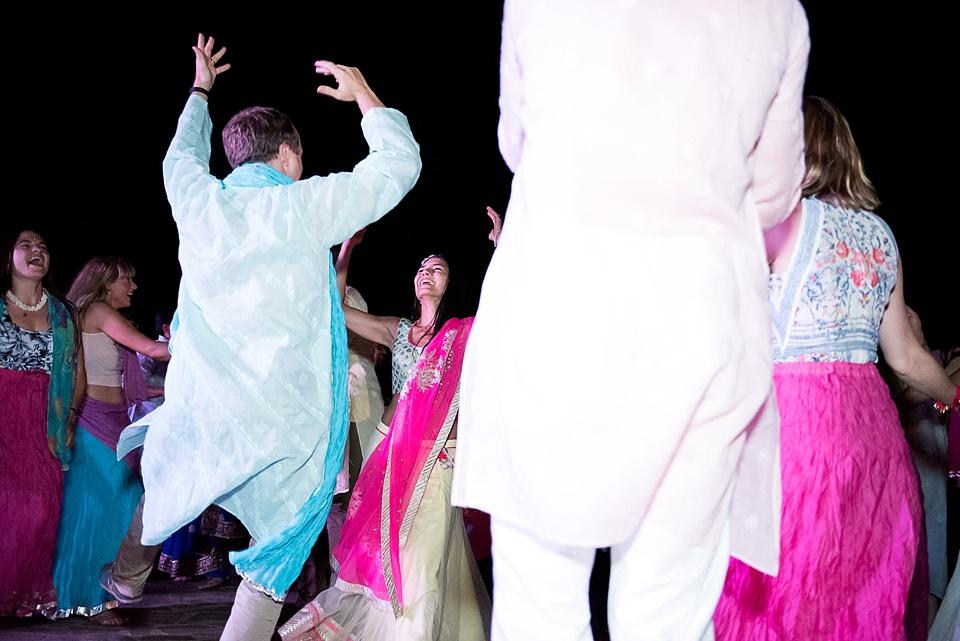 Bhangra dancing at wedding in Tuscany