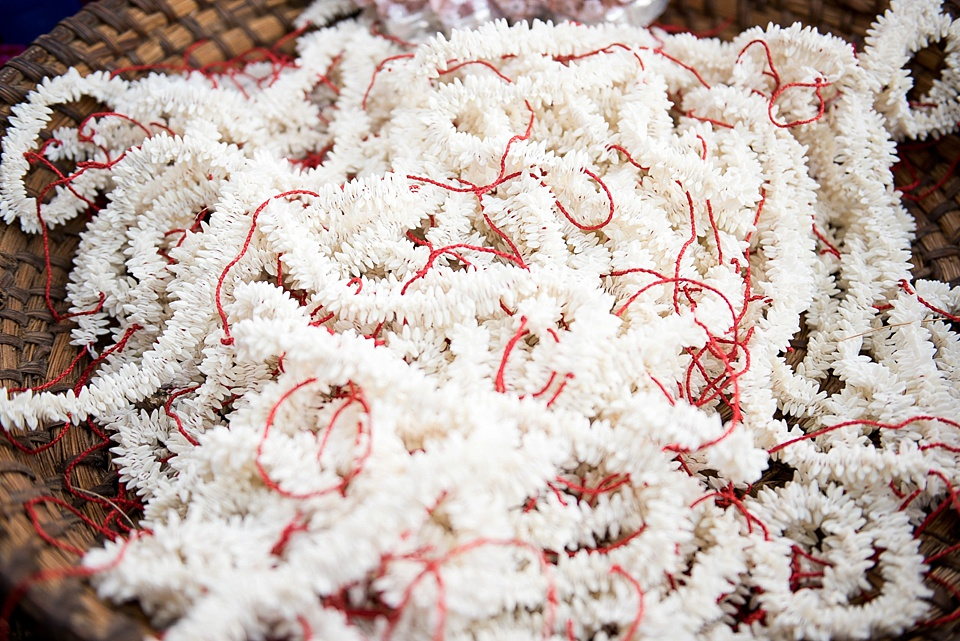 Strings of jasmine for Indian wedding