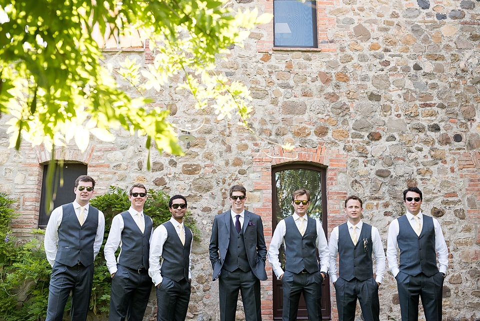 Groomsmen at Tuscany destination wedding