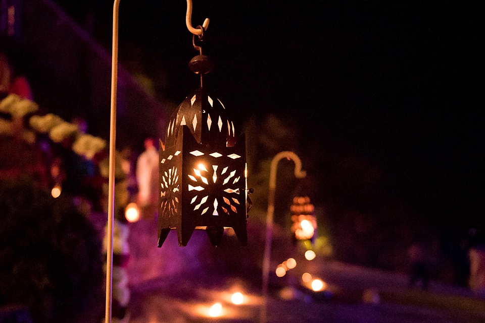 Pretty lantern at Tuscany wedding