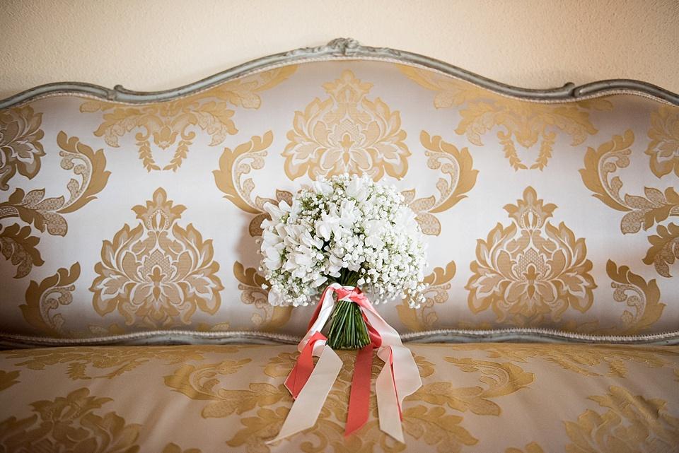 Beautiful Gypsophila wedding bouquet