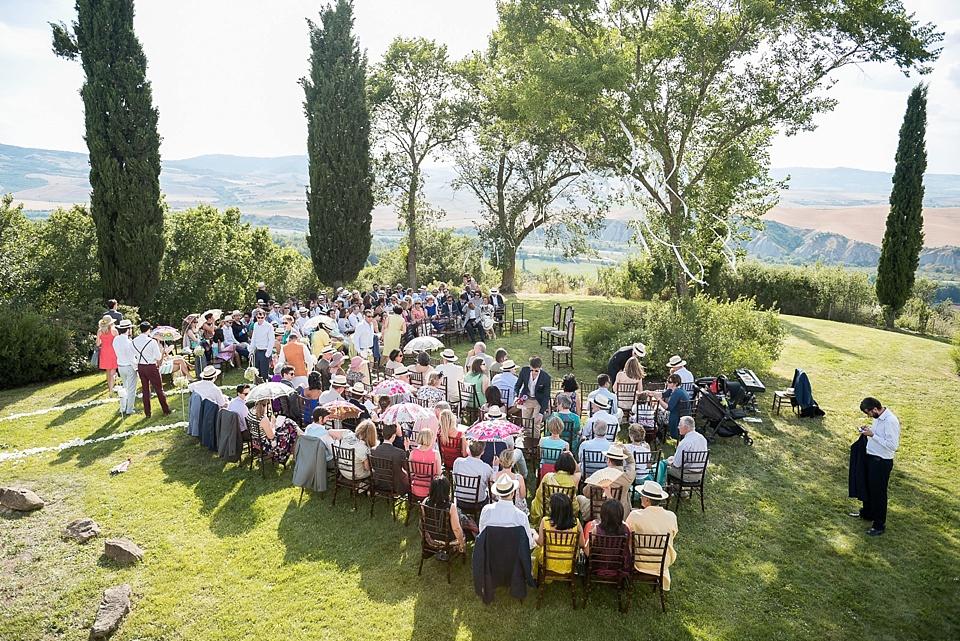 Stunning Tuscany wedding ceremony
