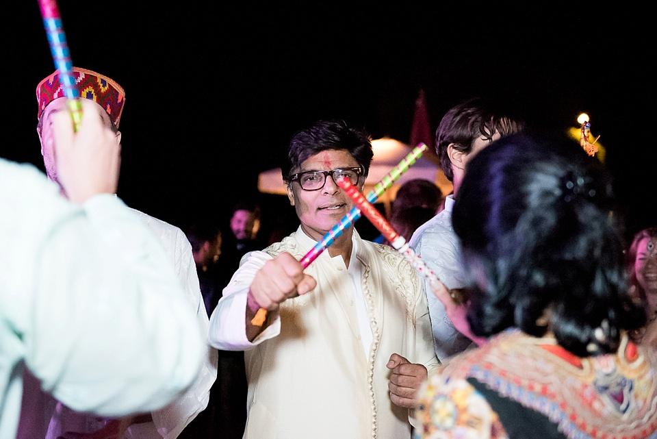 Dancing with sticks - raas - Indian wedding