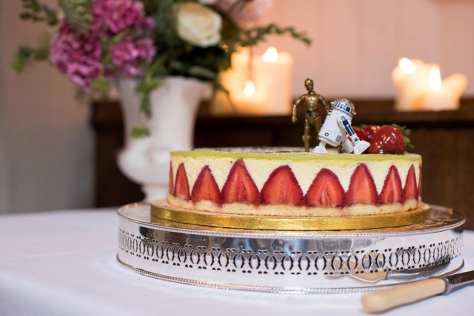 111 Strawberry Cheesecake wedding cake