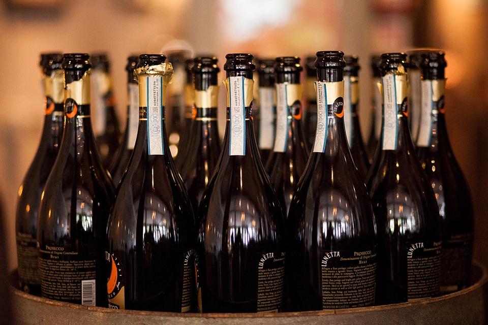 114 Champagne bottles