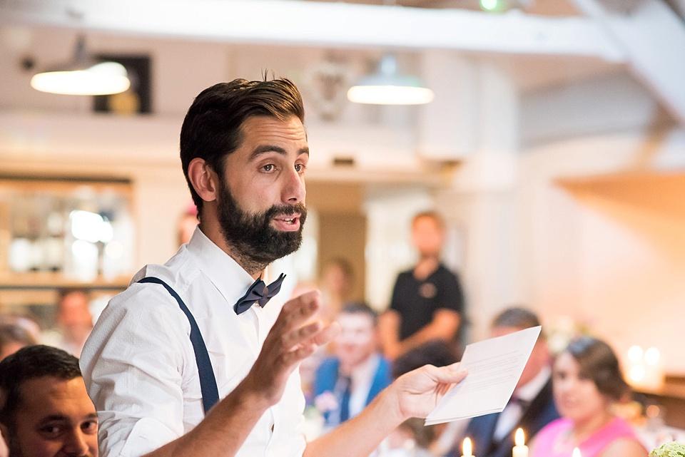 147 Bearded man wedding speech
