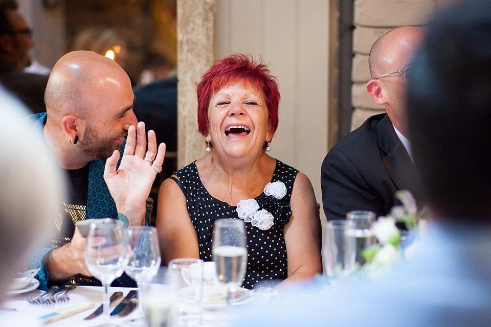 148 Reactions to speeches London wedding