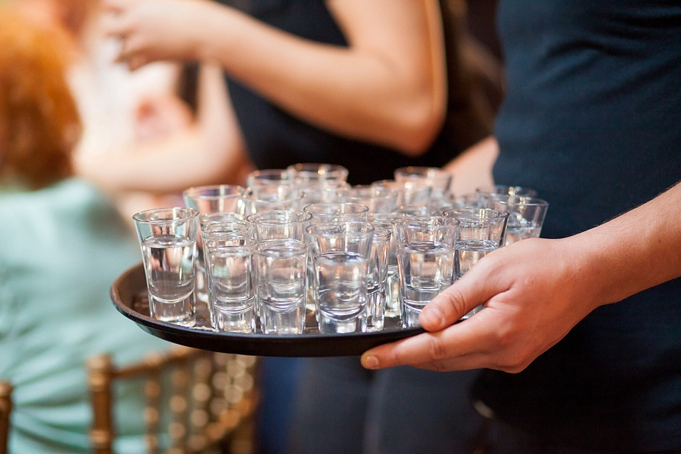 151 Tray of shot glasses London